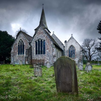 Cudham church Kent England UK