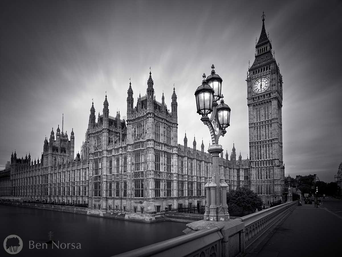 Landscape photographic print of the Houses of Parliament, London