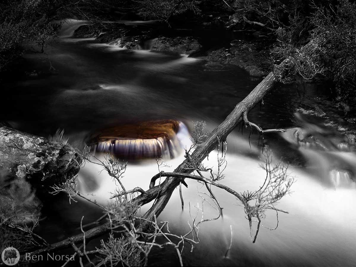Landscape photographic print of Junction Creek