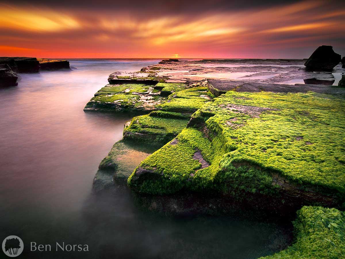 Landscape photographic print of Turrimetta Beach